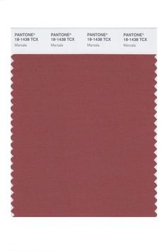 The perfect fall color:  Marsala.