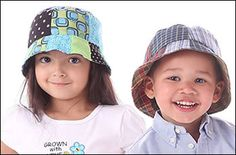 Reversible Patchwork Bucket Hat - 5 Pattern Sizes! Hat Patterns To Sew, Sewing Patterns, Fabric Combinations, Sewing For Kids, Little Boys, Bucket Hat, Children, Hats, Tutorials