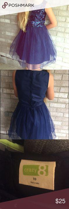 Crazy 8 Blue dress Crazy 8 Navy Blue dress size 10 worn once excellent condition Crazy 8 Dresses Formal