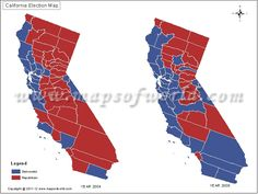 View California Election Results 2016 Map By County Also Explore 2012 Vs 2008 And 2008 Vs 2004 California Election Results Map By County