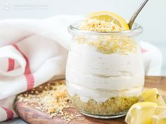 Keto Lemon Cheesecake Jars