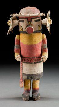 American Indian Art:Kachina Dolls, A HOPI COTTONWOOD KACHINA DOLL. c. 1920