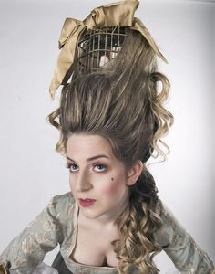 Marie Antoinette hair with bird cage   Restoration hair inspiration