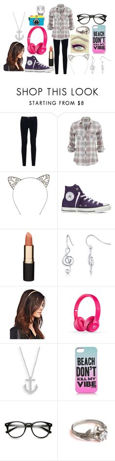 """""""Going to Spartanburg, NC"""" by abbybeaumont ❤ liked on Polyvore featuring J Brand, Converse, Mimco, BERRICLE, Wet Seal, Beats by Dr. Dre and Juicy Couture"""
