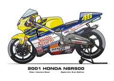 MotoART - Honda NSR500 1983 - 2002 on Behance