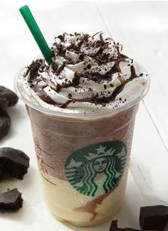 Creamy Dark Caramel Espresso Frappuccino -      Get heavy whipping cream (different from whipped cream) blended with just ice and cream base     Add 3 pumps of dark caramel sauce to the bottom of the cup, then pour the blended mix into the cup     Add a shot of espresso     With whipped cream and cookie crumbles on top (when available) - Starbucks hack ask by recipe