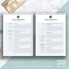 @allcupation Creative Resume Template, Modern CV Template, Word, Cover Letter, References, Instant Download, Mac PC, LISA | Allcupation.com | We Help You Create Powerful Resume and Win The Interview | #resume #template #resumetemplate