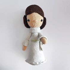 This is a PDF CROCHET PATTERN, NOT THE FINISHED DOLL.  Princess Leia-Diega, is my original version of the Star Wars saga movie characterso you can