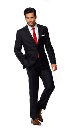 Homecoming black tux with red tie | ideas for prom | Pinterest ...