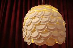 plastic plates lamp
