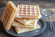 Fair trade waffles {airy and crispy!} With Thermomix Yummix! Superfood, Muffin Recipes, Breakfast Recipes, Thermomix Desserts, No Sugar Foods, Healthy Muffins, Beignets, Cravings, Waffles