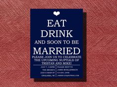 Fun Engagement Party Invitation DIY by WeddingsByJamie on Etsy, $15.00    Engagement Party Annoucement! Great idea for engagement party ... Hrmmm