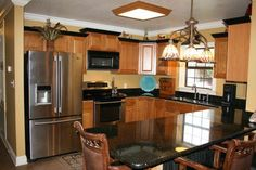 My personal Kitchen with Black Granite counter tops <3