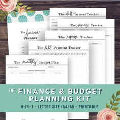 YOUR BEST YEAR YET STARTS NOW with this 8 in 1 budget and finance planning kit.  Get your finances organized in an instant with this set of