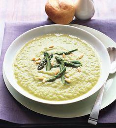 Creamy Asparagus Soup from Epicurious.com #myplate #veggies