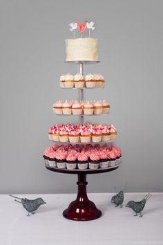 Ombre cupcake tower #birdiecake #jbirdbakery