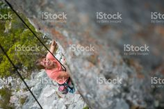 I love rock climbing! foto de stock libre de derechos