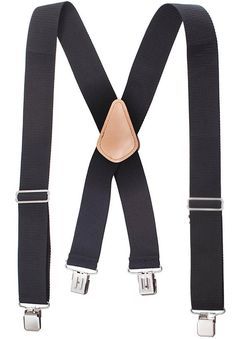 Heavy Duty Work Suspenders - Wide Adjustable with Extra Heavy Strong Sturdy Clips - Black - - Men's Accessories, Suspenders # Work Suspenders, Ems Shirts, Slouch Jeans, Shirt Stays, Shirt Tucked In, Turban Style, Cheap Accessories, Purple Sweater, Daily Wear