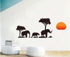 Pas cher Amovible vinyle stickers muraux éléphants et arbre décor à la maison autocollants muraux pour les chambres d'enfants JM8158 haut qualité 50 x 70 cm, Acheter  Autocollants muraux de qualité directement des fournisseurs de Chine: