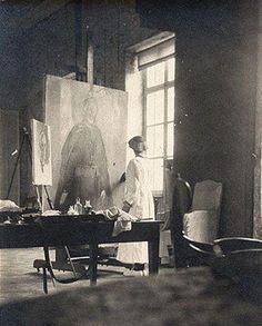 Cecilia Beaux at work, circa 1919