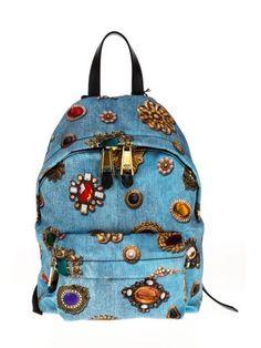 MOSCHINO Moschino Backpack. #moschino #bags #leather #stone #backpacks #