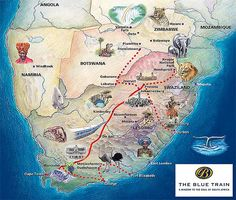 Blue Train (South Africa) - map http://www.bluetrain.co.za/ LS- $1,300 HS- $1,600 Aug 27, 29 Sept 1, 3