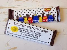 Teacher Appreciation Week: Super Hero Secret Identity Bars