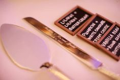 Cake cutting utensils - engraved with names and date as keepsake