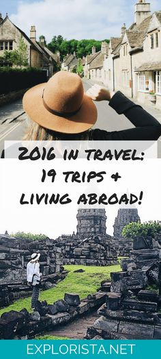 Where I've been in 2016! 19 trips and living abroad for 6 months. Check it out on Explorista.net