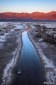 Death Valley, California's Salt Borax Creek