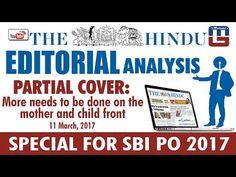 THE HINDU EDITORIAL : ANALYSIS   PARTIAL COVER   SBI PO 2017