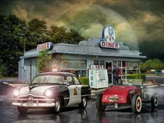Cops And Rodders - Devil Moon Cruise .... by Rat Rod Studios