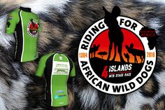 Logo and jersey design for Dutch MTB Team 'Riding for African Wild Dogs'. Wilde honden..