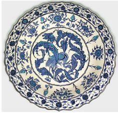 Samples of the Period - General - - The İznik Tiles and Ceramics Ceramic Tile Art, Ceramic Plates, Porcelain Tile, Ceramic Pottery, Decorative Plates, Islamic Paintings, Turkish Tiles, Ottoman, Blue Plates