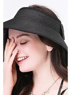 Mujer Sombrero para el sol - Básico Un Color   Verano 2019 - US  12.64  Sombreros 272cf51d85f