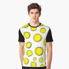 """Yellow Bubbles"" Graphic T-Shirt by wowarts 