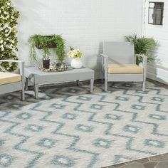 Shop for Safavieh Indoor/ Outdoor Courtyard Grey/ Blue Rug (8' x 11'). Get free shipping at Overstock.com - Your Online Home Decor Outlet Store! Get 5% in rewards with Club O!