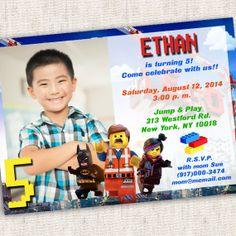 Lego Movie Invitation - Custom Photo Printable Design - Lego Movie Party - Lego Party