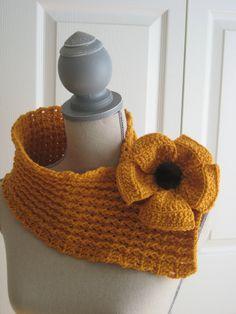 Crochet  Neck Warmer Crochet Scarf Winter Cowl. $40.00, via Etsy.