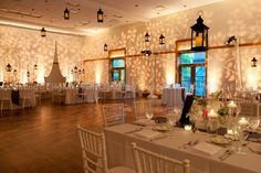 We can't get enough of our Ivy Branch pattern for Spring Weddings! Gobo_Lighting_Wedding. Café Globe Lighting. The soft, amber glow of Café Globe Lighting ...
