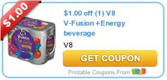 $1.00 off (1) V8 V-Fusion +Energy beverage
