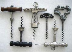 Lot of antique corkscrews by corktiques, via Flickr