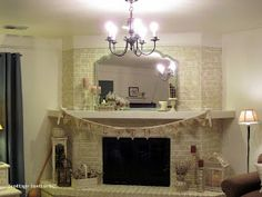 cottage instincts: Fireplace Before and After....with some beadboard and trim thrown in.