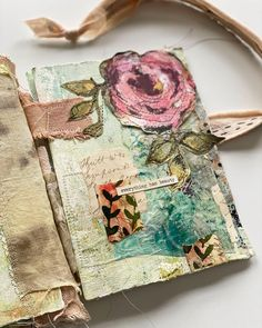 """Wendy Solganik Artist Books on Instagram: """"A page out of my collab journal with @beatrizhelton. Large flower by @reneedesigns. . . . #handmadebook #handmadejournal #collabjournal…"""" Altered Books, Altered Art, Fabric Journals, Art Journals, Mixed Media Techniques, Scrapbook Layout Sketches, Handmade Books, Fake Flowers, Mixed Media Collage"""