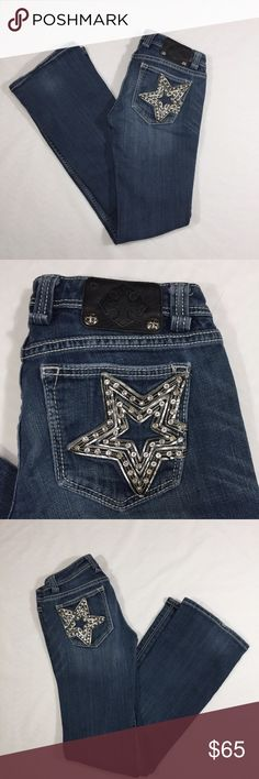 Miss Me Star Struck Low Rise Bootcut Jeans Sz 27 Z Miss Me Jeans Skinny
