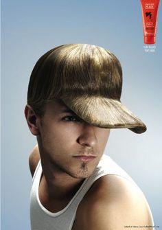 """Gran gráficas para promocionar este producto para el cabello. La #solucion fue comunicar la ventaja del producto (cabello largo y fuerte) para crear unos gorros """"naturales""""."""