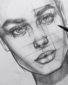 best cute drawings, anime drawings, drawing people of techniques, great examples of pencil drawings. Heart Pencil Drawing, Pencil Art Drawings, Art Drawings Sketches, Realistic Drawings, Pencil Sketches Of Faces, Portrait Sketches, Pencil Portrait, Portrait Art, Drawing Techniques
