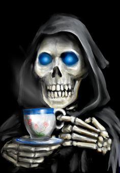 Deaths coffee break by *TolmanCotton on deviantART