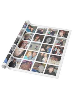 Birthday Party Ideas—by a Professional Party Planner Gift Wrapping Paper, Custom Wrapping Paper, White Photo Frames, 70th Birthday Parties, Birthday Ideas, Personalized Photo Gifts, Create Your Own, Wraps, Collage