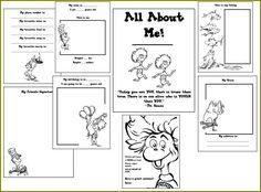 FREE printable ABOUT ME Seuss book (similar to the purchasable hardcover) // No longer available - SW 07/15